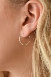 Ohrringe Wild Fawn Minimal Squared Hoop Earrings Silver