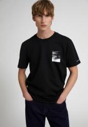T-Shirt Armedangels Aado Peak Black