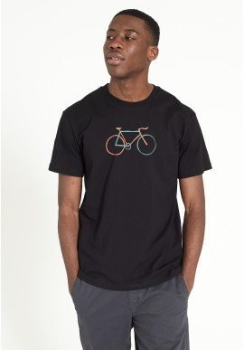 T-Shirt Recolution Casual Agave Bike Black