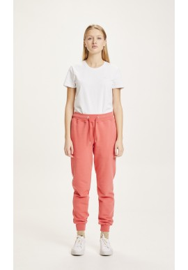 Trainerhose Knowledge Cotton Apparel Teaky Spiced Coral