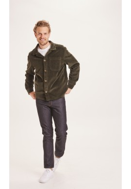 Cord-Overshirt Knowledge Cotton Apparel Pine Forrest Night