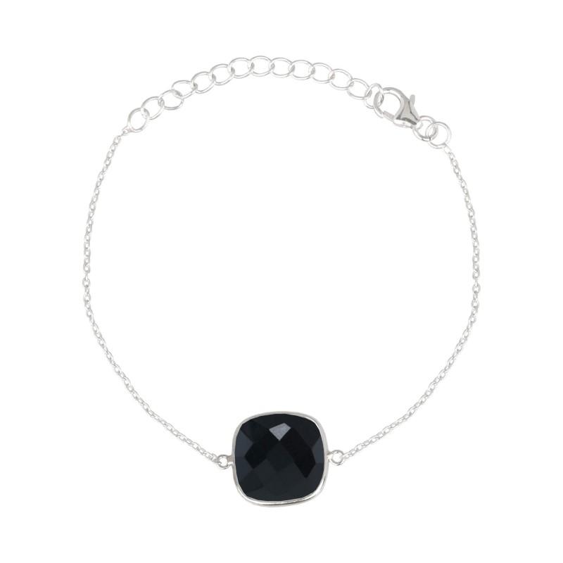 Armband Protsaah Quadra Black Onyx Silver (AC-BR-004-AG-BO)