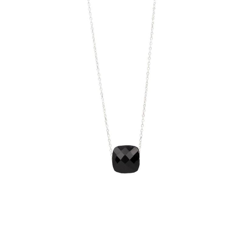 Halskette Protsaah Quadra Faceted Black Onyx Silver (NK-SH-007-AG-BO)