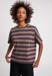 T-Shirt Armedangels Kajaa Block Stripes Indigo-Dusty Rose