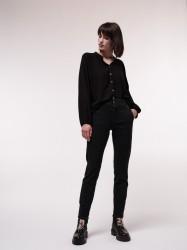 High Waist Jeans GOTS Lanius Black Denim