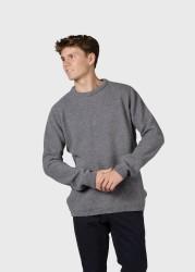 Strickpullover Klitmøller Collective Vidar Light Grey