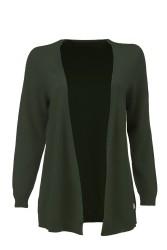Damen-Knit-Cardigan ZRCL Swiss Edition dark green