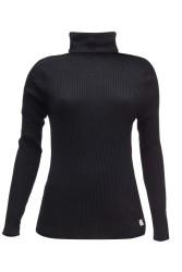 Damen-Rollkragenpullover ZRCL Turtleneck Swiss Edition Black