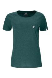 Damen Raglan T-Shirt ZRCL Snowflake Green Stone
