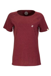 Damen Raglan T-Shirt ZRCL Snowflake Dark Wine