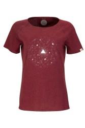 Damen Raglan T-Shirt ZRCL Universe Dark Wine