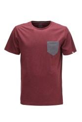 Herren-T-Shirt ZRCL Pocket T-Shirt Dark Wine/Onyx