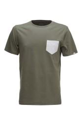 Herren-T-Shirt ZRCL Pocket T-Shirt Olive/Silver Shine