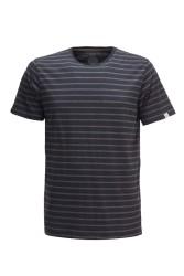 Herren-T-Shirt ZRCL Ringel Black/Onyx