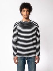 Longsleeve Nudie Jeans Otto Breton Stripe Navy/Eggwhite