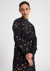 Midi-Kleid Armedangels Aleixaa Wild Blossom Black