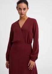 Midi-Kleid Armedangels Aleixaa Ruby Red