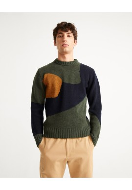 Strickpullover Thinking Mu Khem Abstract Knitted Sweater