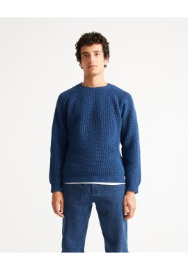 Strickpullover Thinking Mu Anteros Knitted Sweater Navy