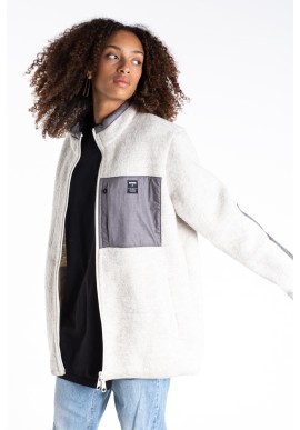 Jeckybeng The Natural Wool Fleece White-Grey