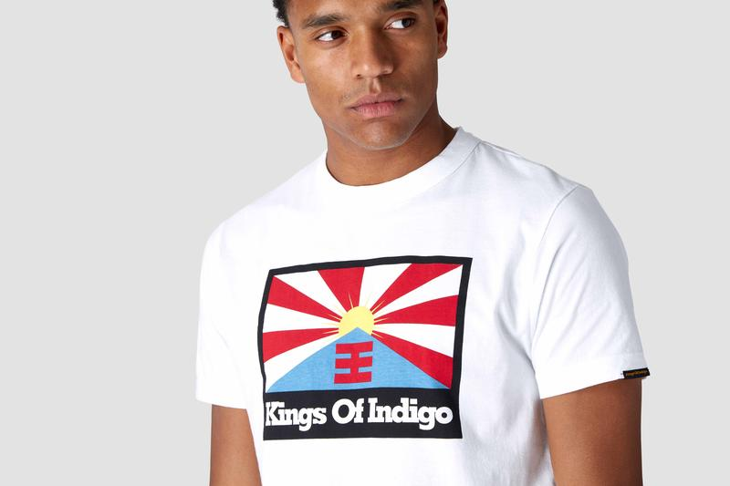 T-Shirt Darius Kings Of Indigo Rising Sun Flag white